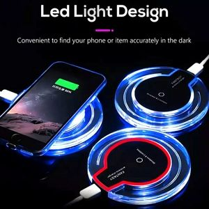LED Charging pad for Your Cellphone, Black